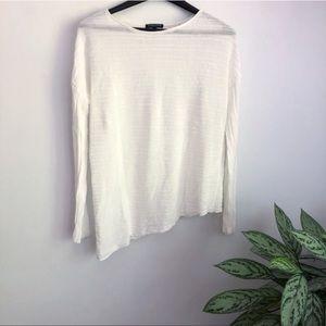 Eileen Fisher asymmetrical lightweight sweater